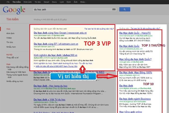 Dịch vụ quảng cáo Google Adwords giá rẻ