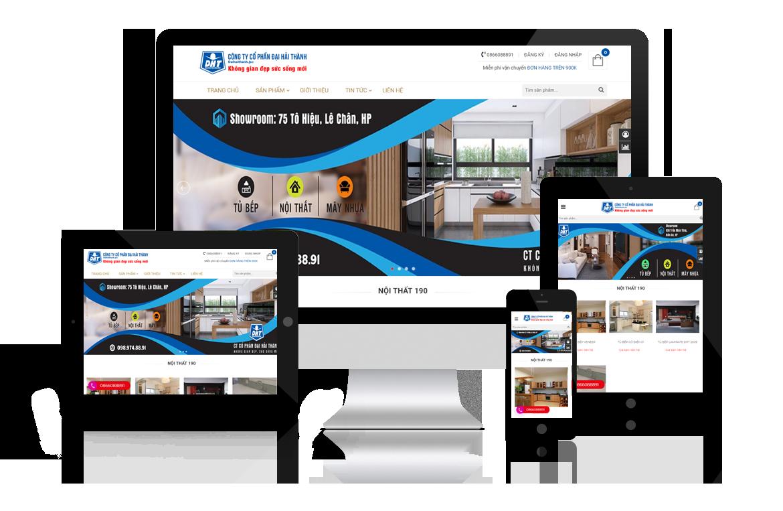 Thiết kế website Công ty Nội Thất Đại Hải Thành