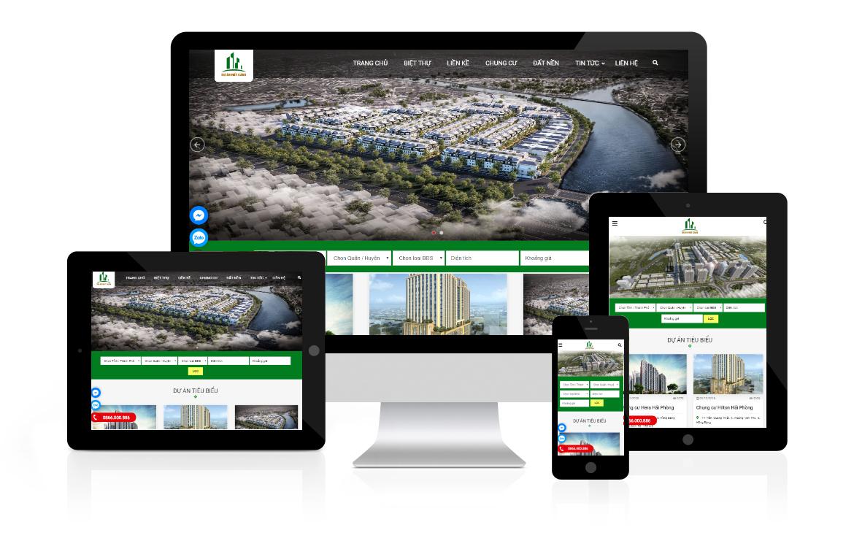 Thiết kế web Dự Án Đất Cảng