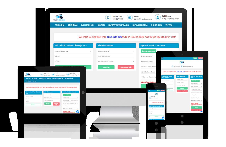 Thiết kế website Trùm Thẻ Cào