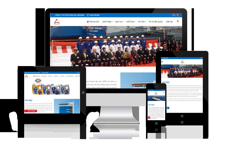 Thiết kế lại website Công ty Hàng Hải Liên Minh
