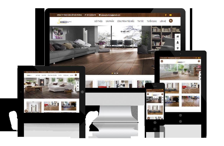 Thiết kế website Sàn Gỗ Hải Phòng