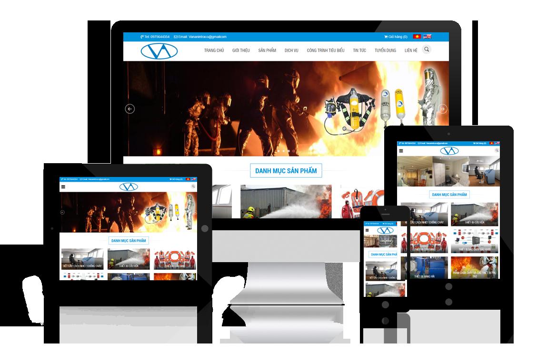 Thiết kế web Phòng Cháy Chữa Cháy Vạn An
