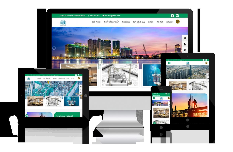 Thiết kế web Công ty Conrea Group
