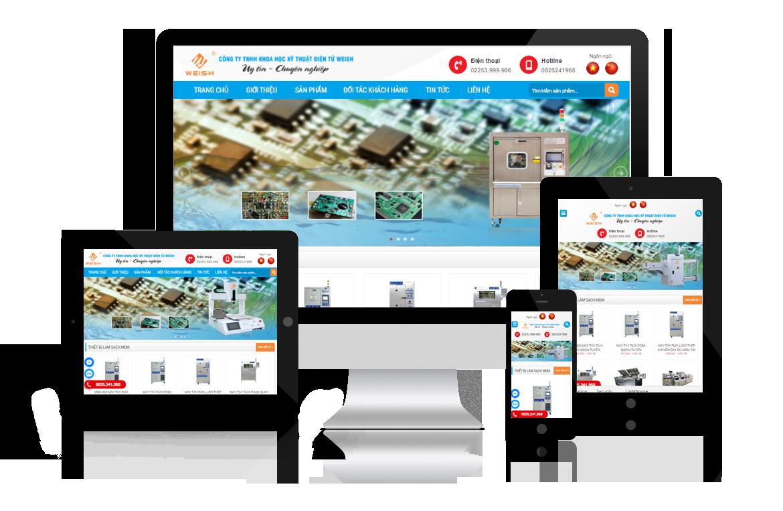 Thiết kế website Công ty Kỹ Thuật Điện Tử Weish