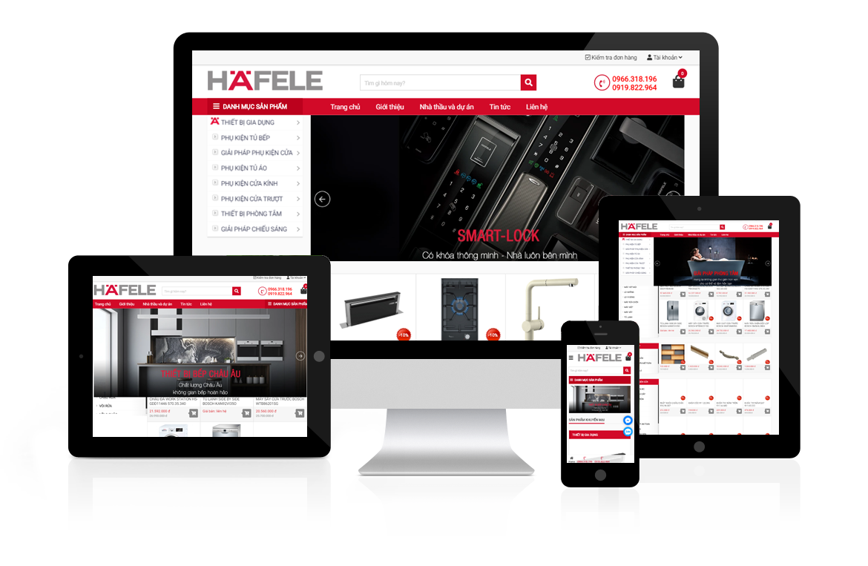 Thiết kế website Hafele Việt Nam