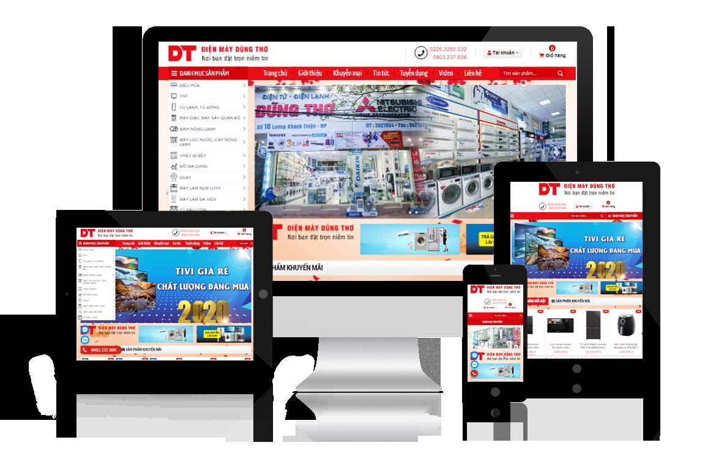 Thiết kế website Điện Máy Dũng Thơ