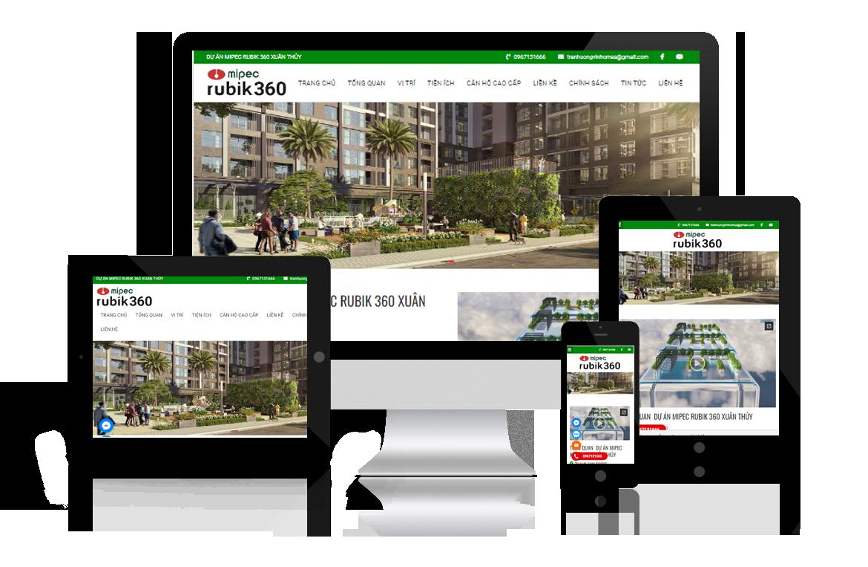 Thiết kế website Dự Án Mipec Rubik 360 Xuân Thủy