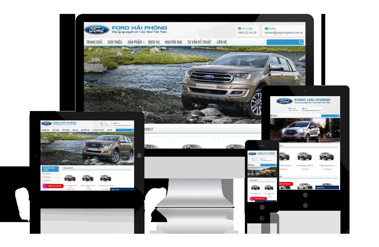 Thiết kế website Đại Lý Ford Hải Phòng