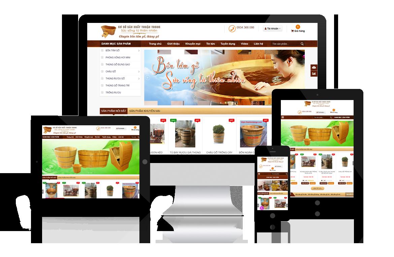 Thiết kế web Bán Bồn Tắm Gỗ