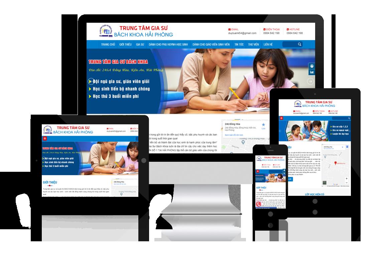 Thiết kế website Gia Sư Bách Khoa Hải Phòng