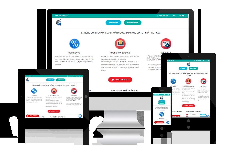 Thiết kế website Đổi Thẻ Siêu Rẻ