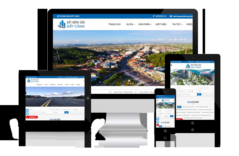 Thiết kế web Bất Động Sản Đất Cảng
