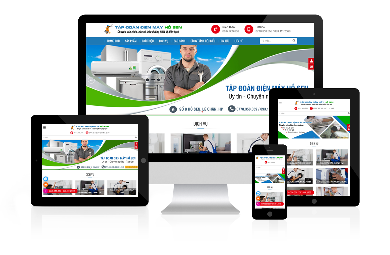 Thiết kế web Điện Máy Hồ Sen