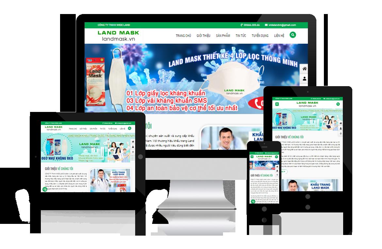 Thiết kế web Công ty Wide Land - Thương hiệu Khẩu Trang Land Mask