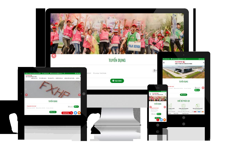 Thiết kế website Tuyển Dụng Fuji Xerox Hải Phòng