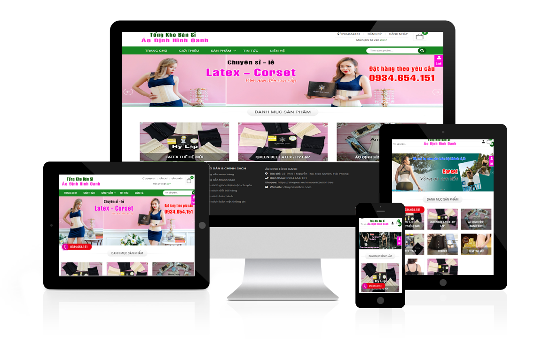 Thiết kế website Shop Áo Định Hình Oanh