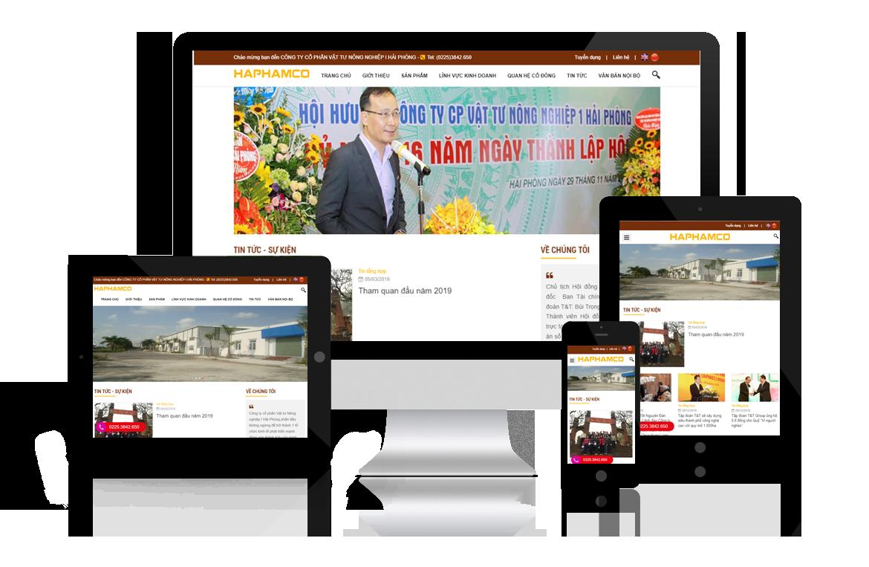 Thiết kế website Công ty Vật Tư Nông Nghiệp I Hải Phòng
