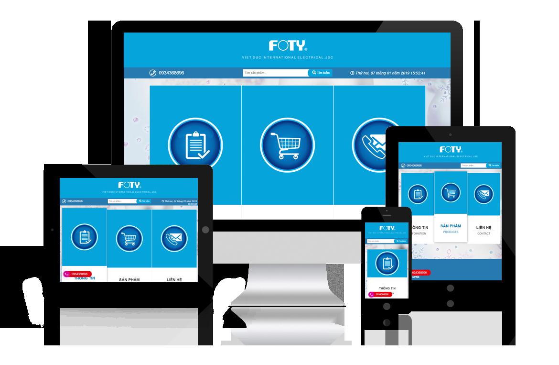 Thiết kế web Điện Máy Foty