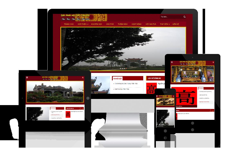 Thiết kế website dòng họ Cao Trung Thái Bình