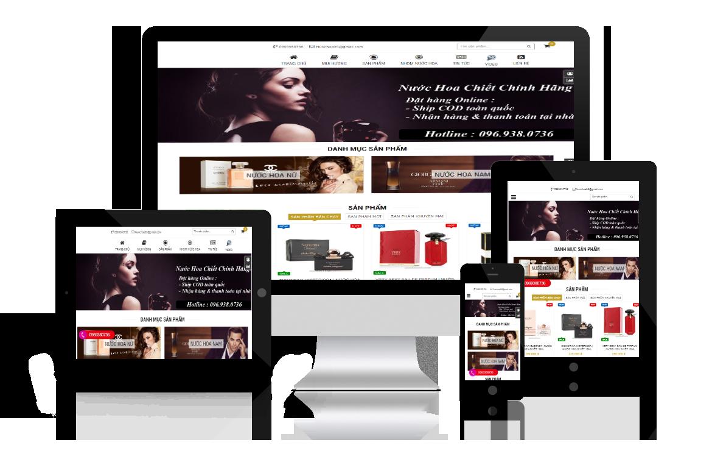 Thiết kế website Nước Hoa 95