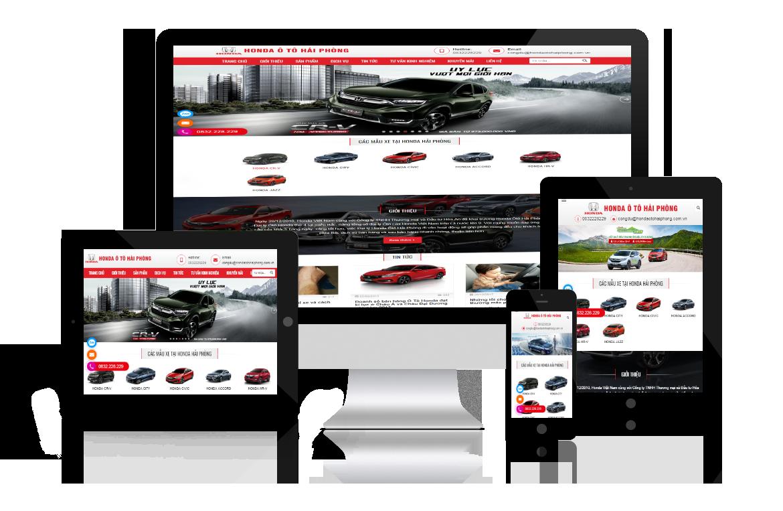 Thiết kế website Honda Ô Tô Hải Phòng
