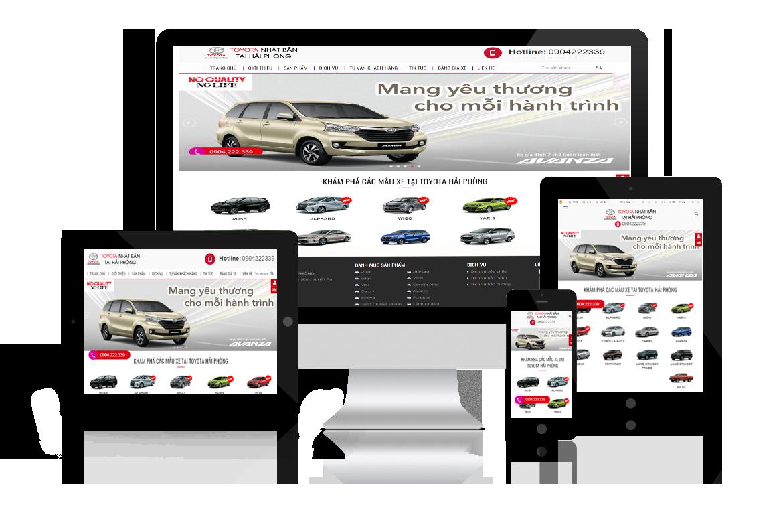 Thiết kế website Showroom Ô tô Toyota Nankai Hải Phòng