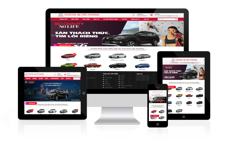 Thiết kế website Toyota 5S Hải Phòng