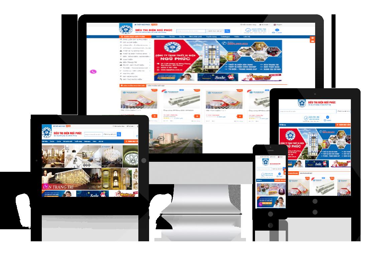 Thiết kế web Siêu Thị Điện Ngũ Phúc
