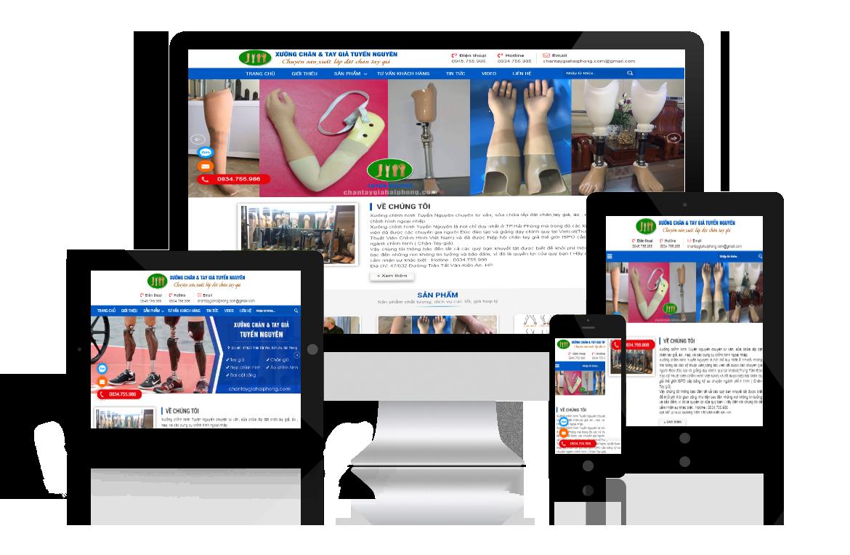 Thiết kế website Xưởng Chân Tay Giả Tuyến Nguyên