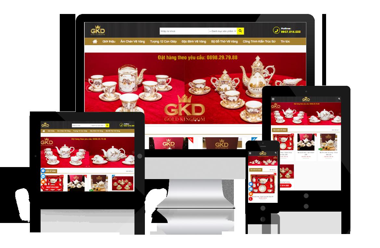 Thiết kế web Quà VIP Gold Kingdom
