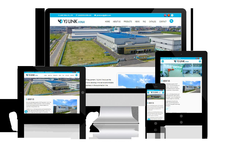 Thiết kế website Công ty YJ LINK VINA - 100% vốn Hàn Quốc