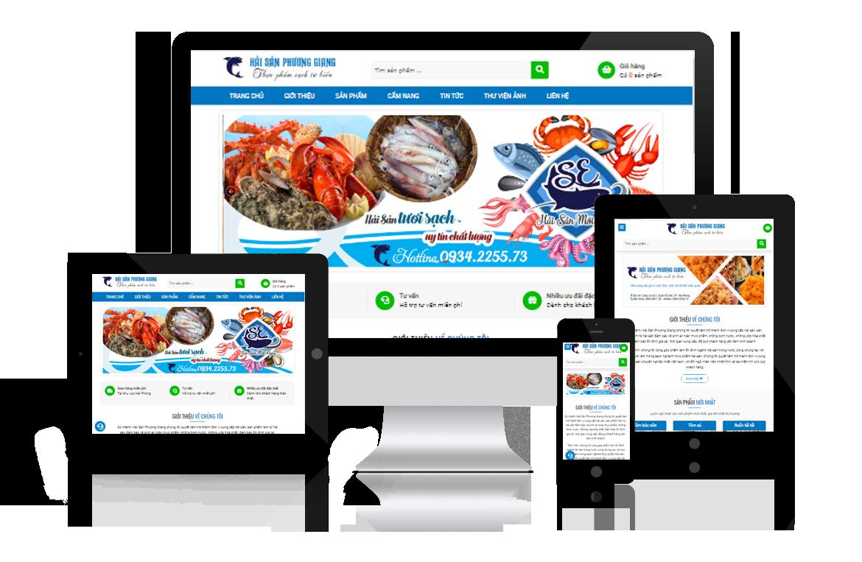 Thiết kế website Hải Sản Phương Giang