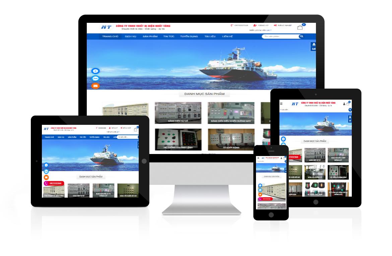Thiết kế web Công ty Thiết Bị Điện Nhất Tăng