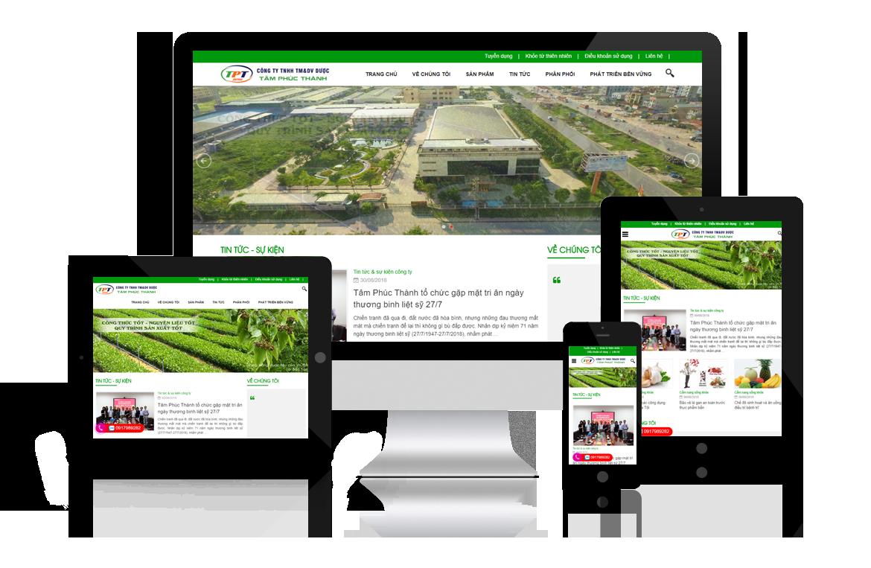 Thiết kế website Công ty Dược Tâm Phúc Thành
