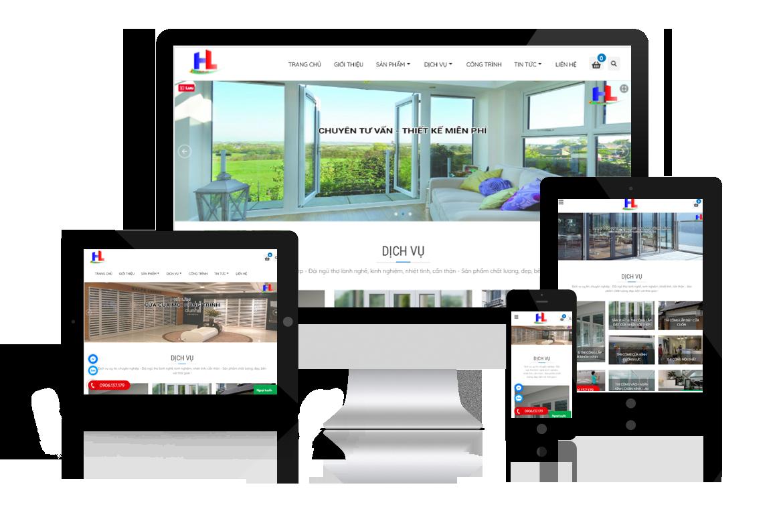 Thiết kế website Công ty Xây Dựng Hải Lâm - Cửa Nhựa Hải Phòng