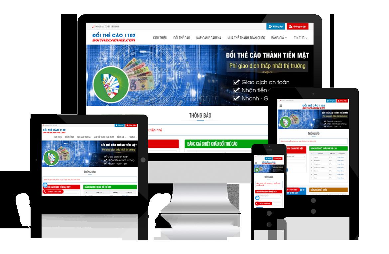 Thiết kế website Đổi Thẻ Cào 1102