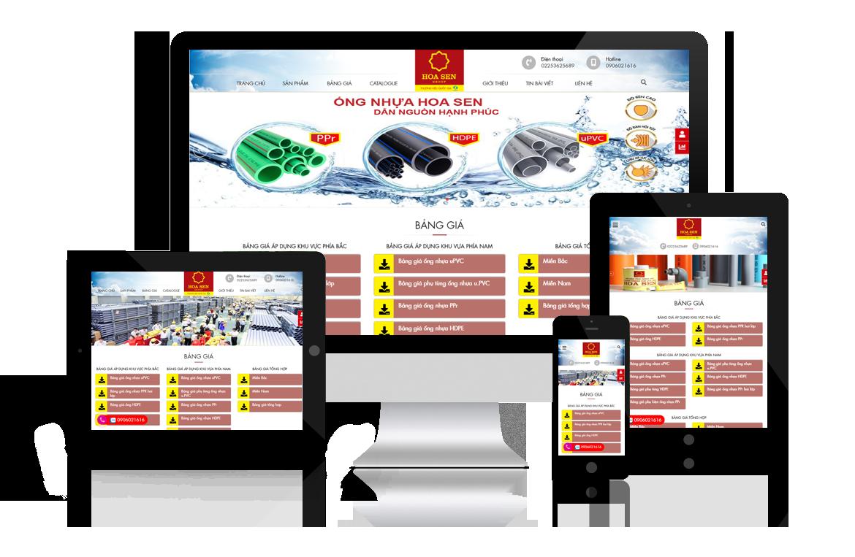 Thiết kế web Phân Phối Ống Nhựa Hoa Sen