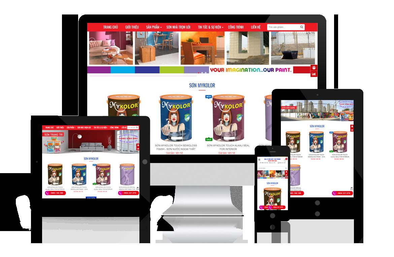 Thiết kế website Đại Lý Sơn Hải Phòng