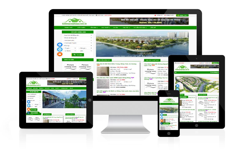 Thiết kế website Nhà Đất Phú Quý