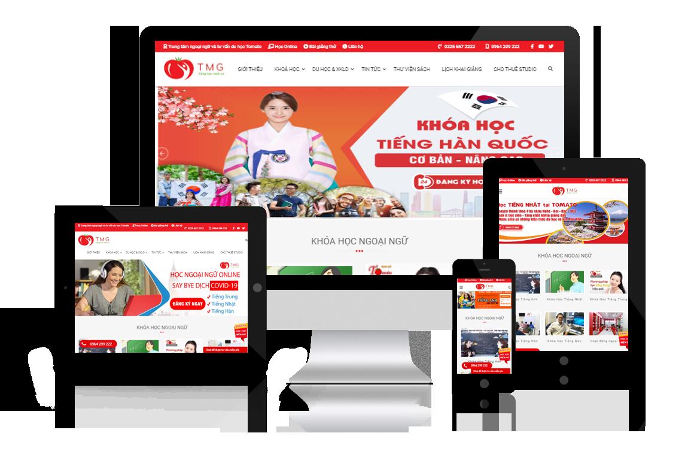 Thiết kế lại web Trung Tâm Ngoại Ngữ Tomato