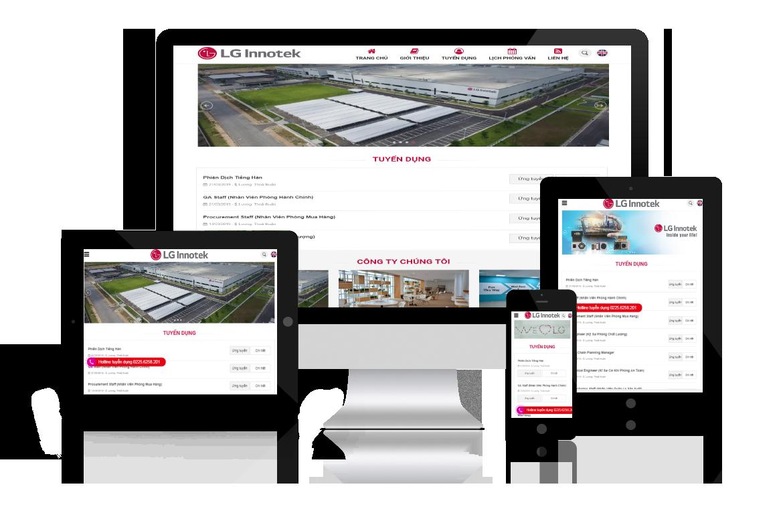 Thiết kế web Tuyển dụng LG Innotek
