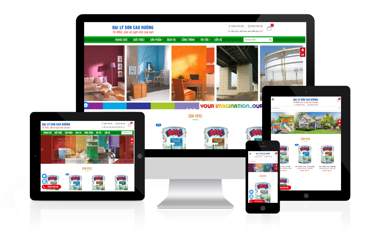 Thiết kế website Đại lý Sơn Cao Hướng