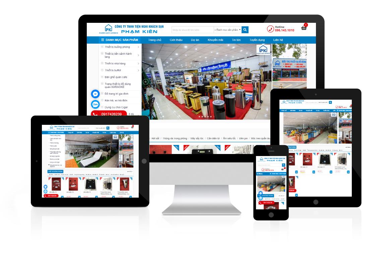 Thiết kế website Công ty Đồ Dùng Khách