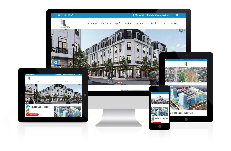 Thiết kế website Dự Án Hoàng Huy Mall
