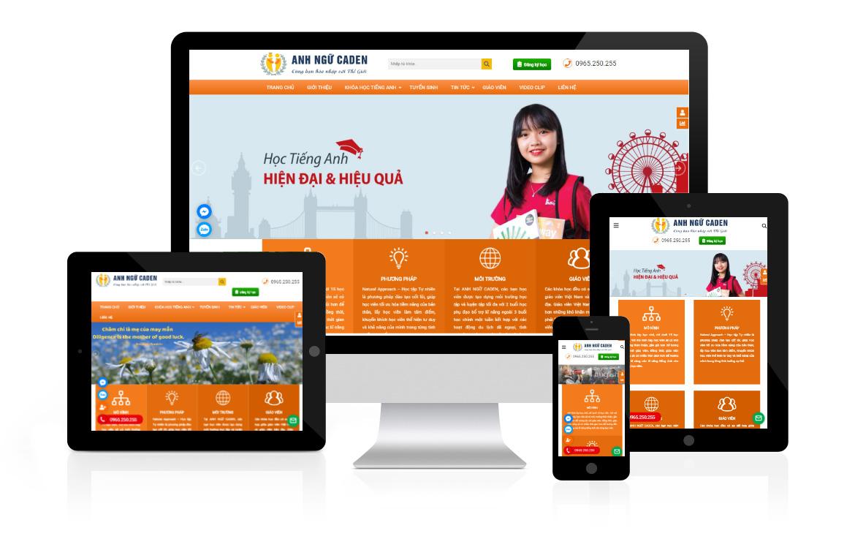 Thiết kế web Trung Tâm Anh Ngữ Caden