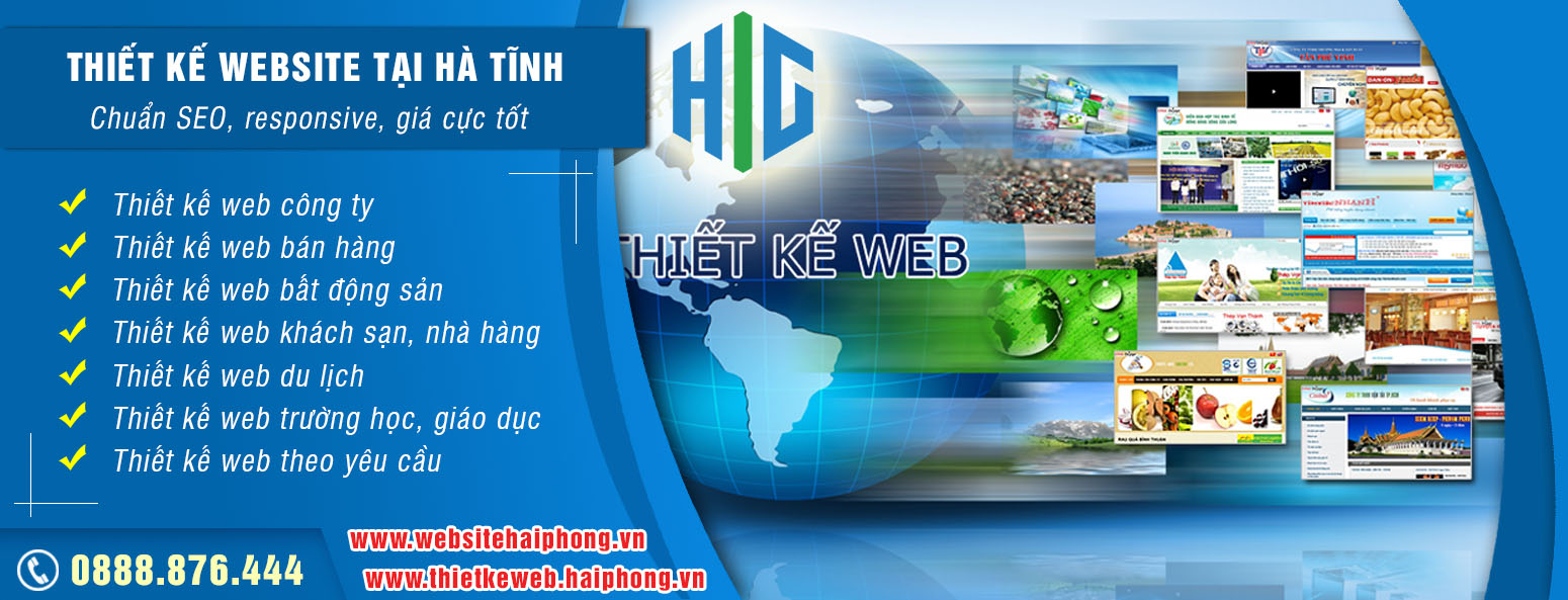 Dịch vụ thiết kế website tại Hà Tĩnh