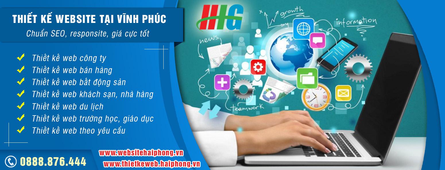 Dịch vụ thiết kế website tại Vĩnh Phúc giá rẻ chuẩn SEO