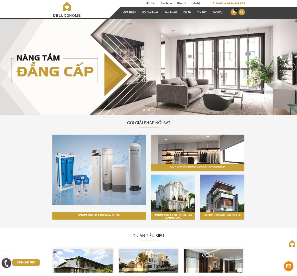 Thiết kế website Công ty Nhà Sang Deluxe Home