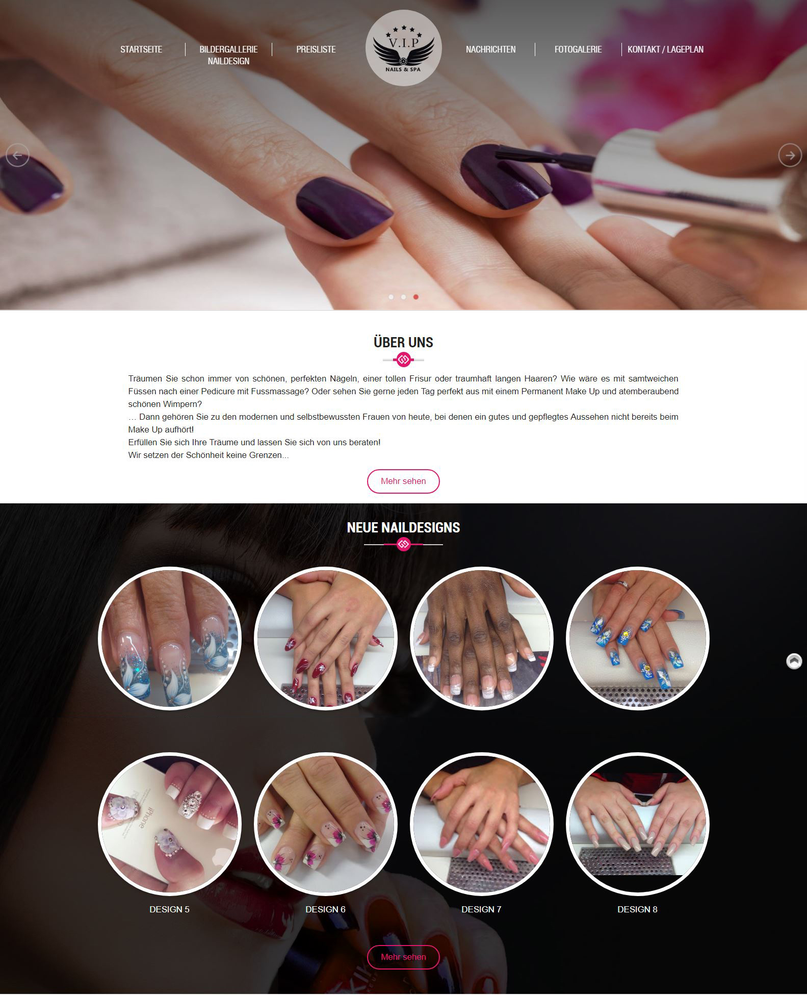 Thiết kế website Vip Nails